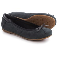 Timberland Ellsworth Ballerina Flats - Nubuck (For Women) in Black - Closeouts