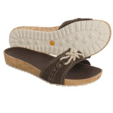 Timberland Estela Cape Ann Knots Slides (For Women) in Dark Brown - Closeouts