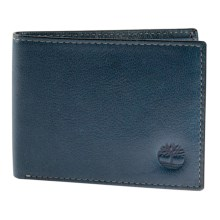 Timberland Fine Break Passcase Wallet - Leather in 23 Ink - Closeouts