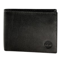 Timberland Fine Break Passcase Wallet - Leather in Black - Closeouts