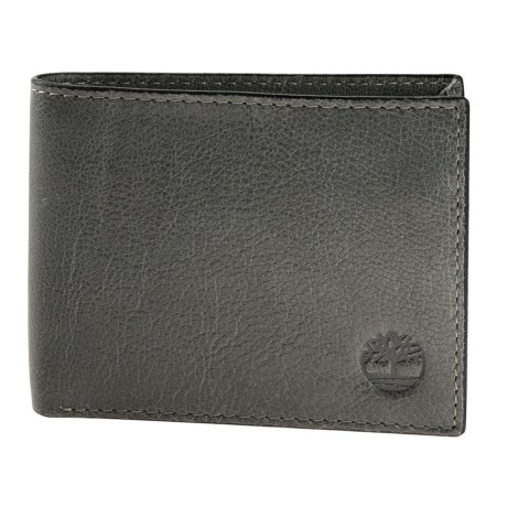 Timberland Fine Break Passcase Wallet - Leather in Concret