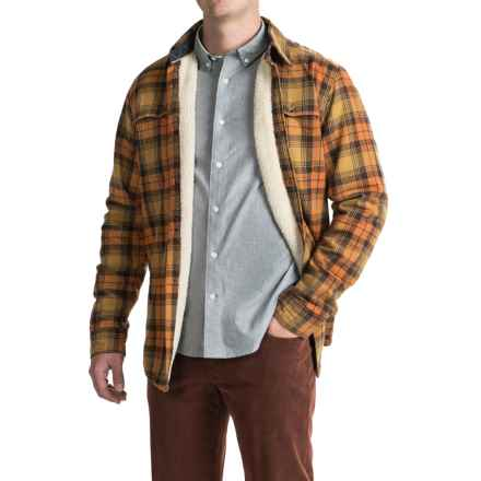 Timberland Fleece-Lined Flannel Shirt Jacket - Long Sleeve (For Men) in Medal Bronze - Closeouts