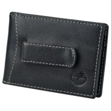 Timberland Flip Clip Wallet - Antiqued Leather in Black - Closeouts
