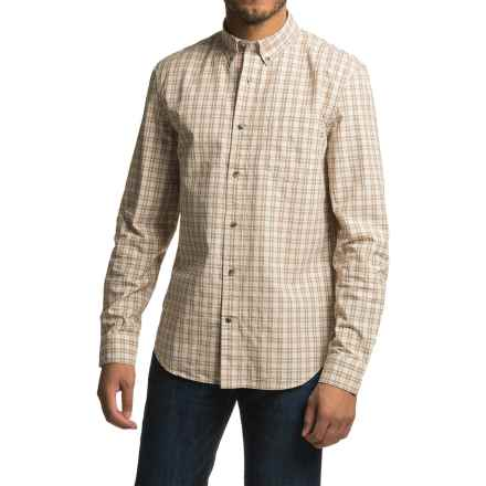 Timberland Gale River Small Check Shirt - Slim Fit, Long Sleeve (For Men) in Rubber - Closeouts