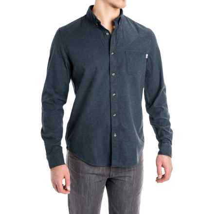 Timberland Heathered Flannel Shirt - Slim Fit, Long Sleeve (For Men) in Dark Sapphire Heather - Closeouts