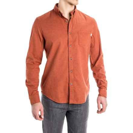 Timberland Heathered Flannel Shirt - Slim Fit, Long Sleeve (For Men) in Ginger Bread Heather - Closeouts