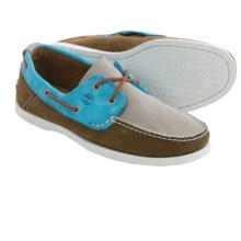 Timberland Heritage CW 2-Eye Boat Shoes - Nubuck (For Men) in Silver/Teal/Dark Brown - Closeouts