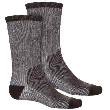 Timberland Hiking Socks - 2-Pack, Crew (For Men) in Bark/Brown - Closeouts