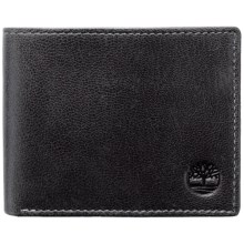 Timberland Hudson Commuter Wallet - Leather (For Men) in Black - Closeouts