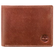 Timberland Hudson Commuter Wallet - Leather (For Men) in Cognac - Closeouts