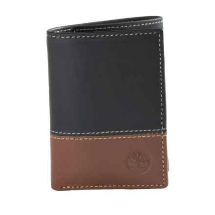 Timberland Hunter 2 Leather Wallet - Trifold in Black/Brown - Closeouts