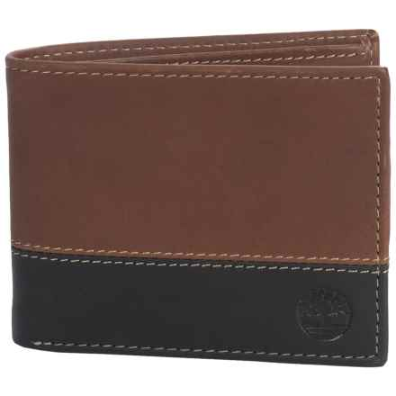Timberland Hunter Commuter Bifold Wallet in Brown/Black - Closeouts