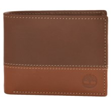 Timberland Hunter Commuter Bifold Wallet in Brown/Tan - Closeouts