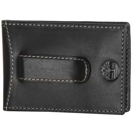 Timberland Hunter Flip Clip Pocket Wallet in Black - Closeouts