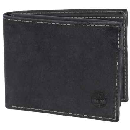 Timberland Hunter Passcase Wallet - Leather in Black - Closeouts