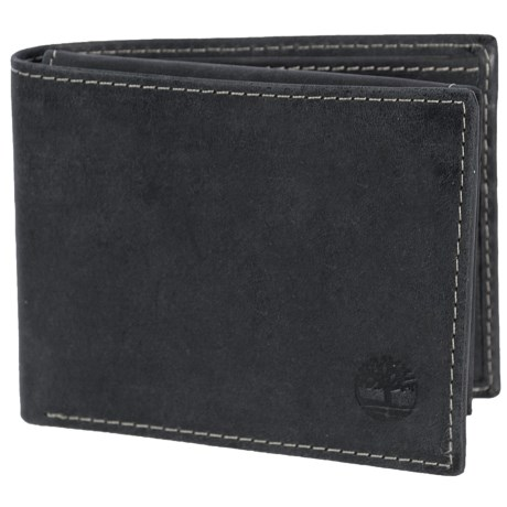Timberland Hunter Passcase Wallet - Leather in Black