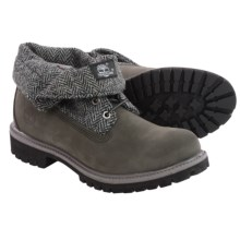 Timberland Icon Roll-Top Nubuck Boots (For Men) in Plaid/Grey - Closeouts