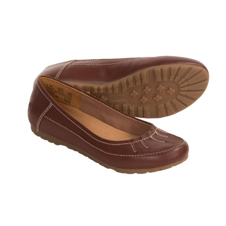 Timberland Jaida Ballerina Shoes - Leather (For Women) in Brown/Smooth Leather