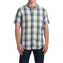 Timberland Large Check Shirt - Short Sleeve (For Men) in Maize - Closeouts