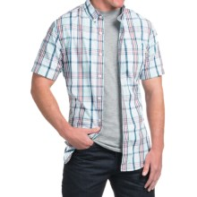 Timberland Large Check Shirt - Short Sleeve (For Men) in Plume Yd - Closeouts