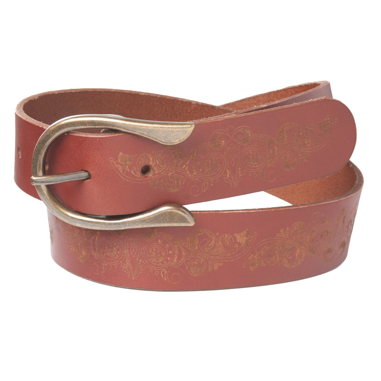 Sala Estructuralmente Fondos  Timberland Laser Etched Leather Belt (For Women) - Save 50%