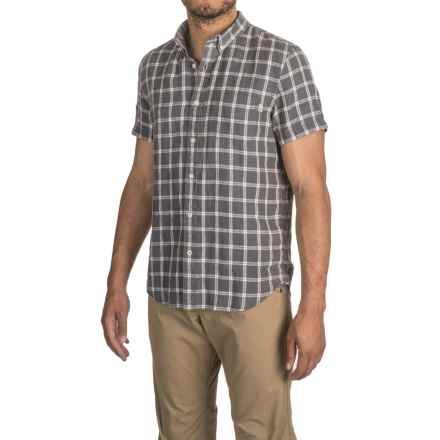 Timberland Linen Cargo Shirt - Short Sleeve (For Men) in Ebony - Closeouts