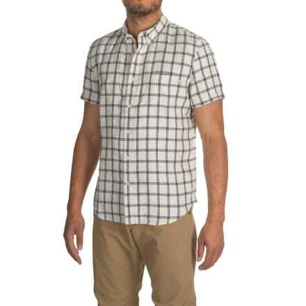 Timberland Linen Cargo Shirt - Short Sleeve (For Men) in Wind Chime - Closeouts