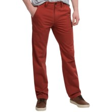 Timberland Locke Lake Twill Chino Pants - Straight Fit (For Men) in Red Dahlia - Closeouts