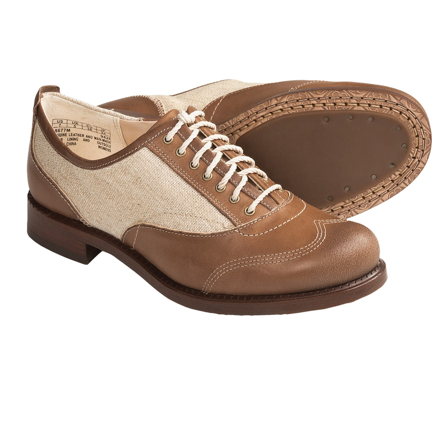 Womens Faux Leather Oxford Shoes