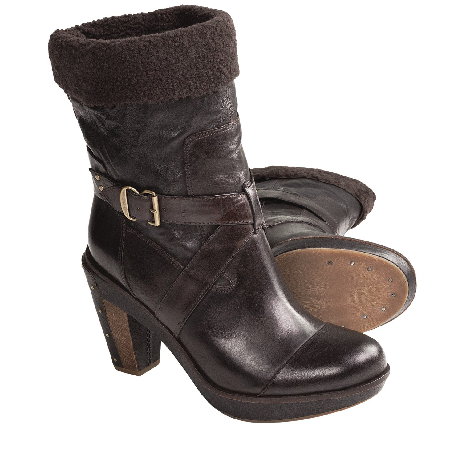 timberland marge wood mid heel boots for save 35
