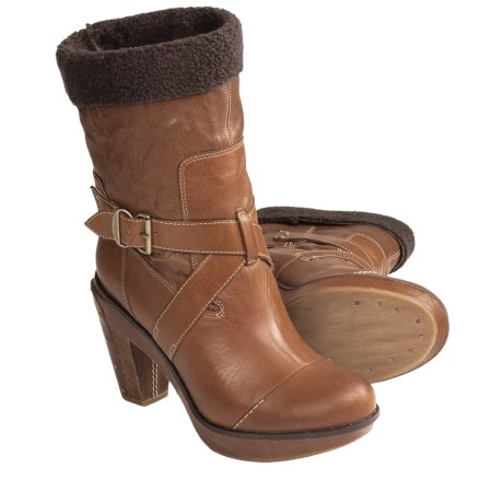 Timberland Marge Wood Mid Heel Boots (For Women) in Tan