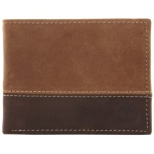 Timberland Marl Two-Tone Commuter Passcase Wallet in Tan - Closeouts