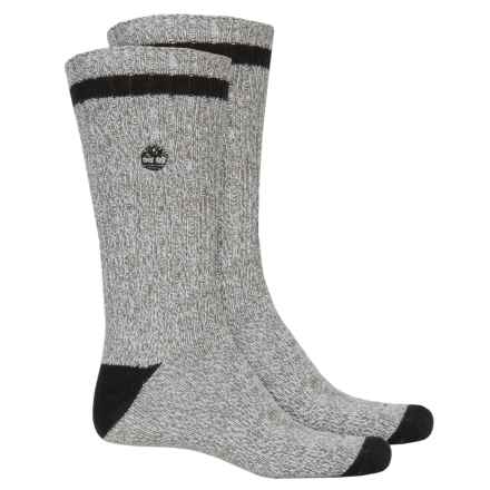 Timberland Marled Casual Socks - 2-Pack, Crew (For Men) in Black - Closeouts