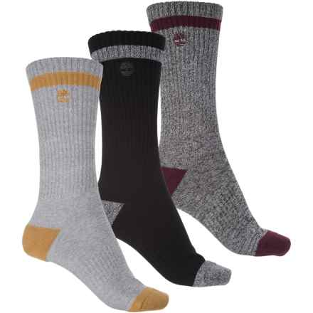 Timberland Marled Socks - 3-Pack, Crew (For Women) in Grey/Purple/Black Grey - Closeouts