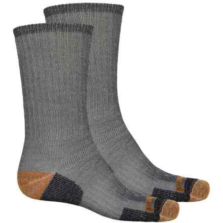 Timberland Merino Wool Blend Hiking Socks - 2-Pack, Crew (For Men) in 001 Black - Closeouts