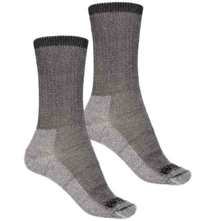 Timberland Merino Wool Blend Socks - 2-Pack, Crew (For Women) in Black - Closeouts