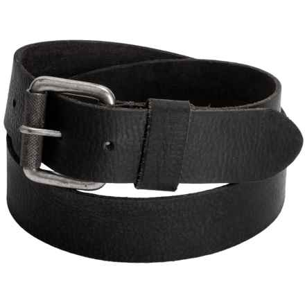 Timberland Milled Belt - Leather (For Men) in Black - Closeouts