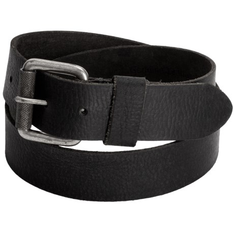 Timberland Milled Belt - Leather (For Men) in Black
