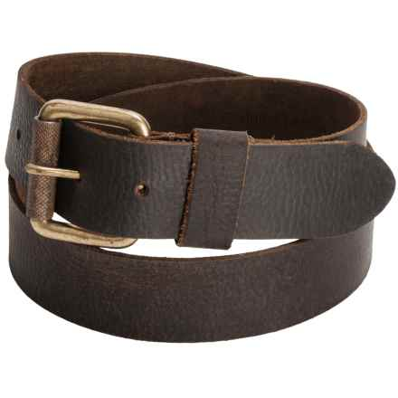 Timberland Milled Belt - Leather (For Men) in Dark Brown - Closeouts