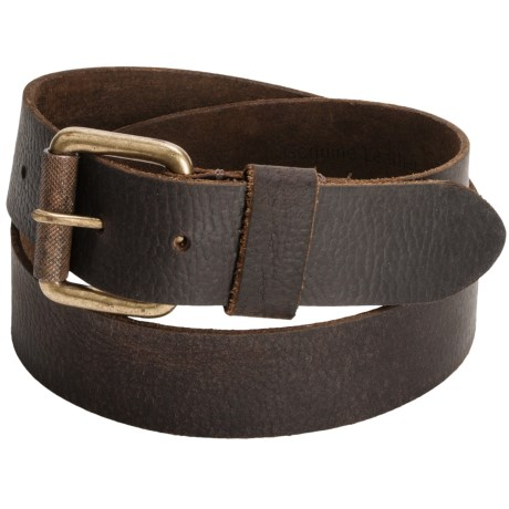 Timberland Milled Belt - Leather (For Men) in Dark Brown