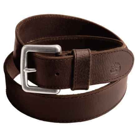Timberland Milled Leather Belt (For Men) in Brown - Closeouts