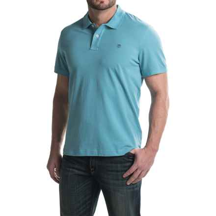 Timberland Millers River Pique Polo Shirt - Short Sleeve (For Men) in Niagara - Closeouts