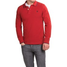 Timberland Millers River Polo Shirt - Long Sleeve (For Men) in Red Dahlia - Closeouts