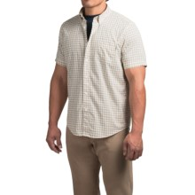 Timberland Mini-Check Shirt - Short Sleeve (For Men) in Dusty Gold - Closeouts