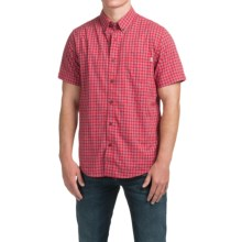 Timberland Mini-Check Shirt - Short Sleeve (For Men) in Haute Red - Closeouts
