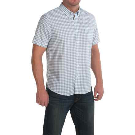 Timberland Mini-Check Shirt - Short Sleeve (For Men) in Plume Yd - Closeouts