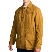 Timberland Mount Lincoln Leather Barn Jacket (For Men) in Wheat - Closeouts