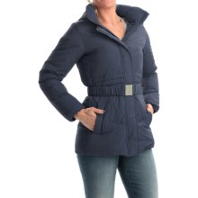 Timberland Mount Madison Mid Down Coat - 550 Fill Power (For Women) in Black Iris - Overstock