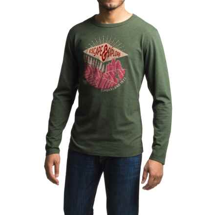 Timberland Mountain Portal T-Shirt - Long Sleeve (For Men) in Dark Cilantro - Closeouts
