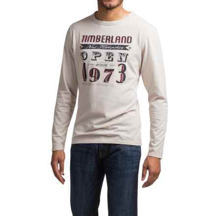 Timberland Mountain Portal T-Shirt - Long Sleeve (For Men) in Moonbeam - Closeouts